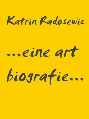 cover image of ...eine art biografie...