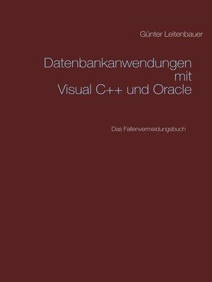 cover image of Datenbankanwendungen mit VC++ und Oracle