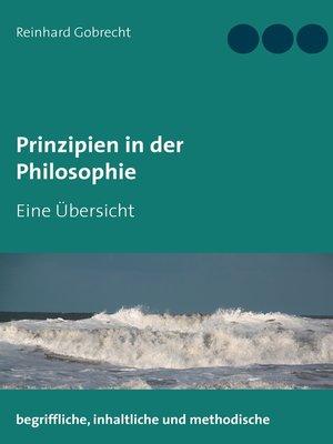 cover image of Prinzipien in der Philosophie