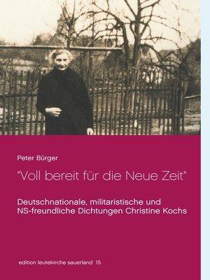 """cover image of """"Voll bereit für die Neue Zeit"""""""