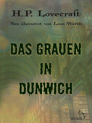 cover image of Das Grauen in Dunwich