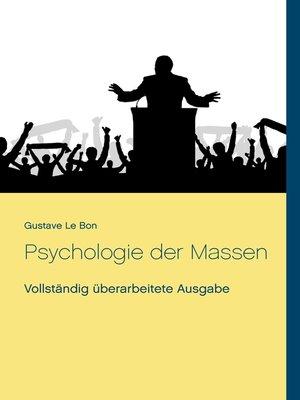 cover image of Psychologie der Massen