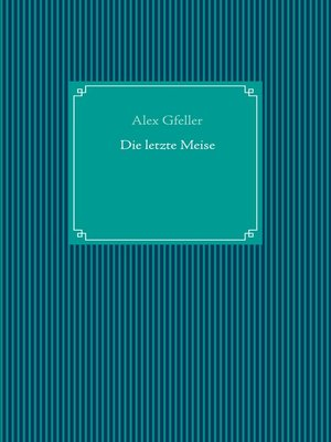 cover image of Die letzte Meise