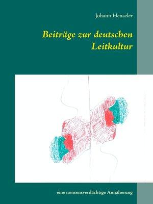 cover image of Beiträge zur deutschen Leitkultur