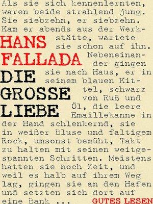 cover image of Die große Liebe