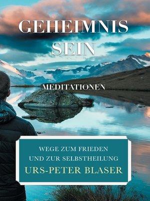 cover image of Geheimnis Sein--Meditationen