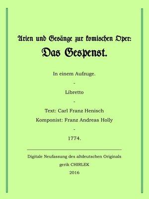 cover image of Arien und Gesänge zur komischen Oper