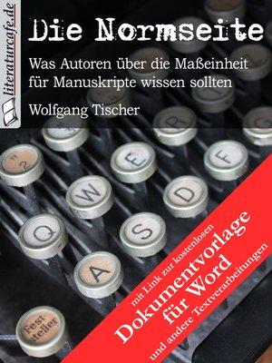 cover image of Die Normseite (mit Dokumentvorlage)
