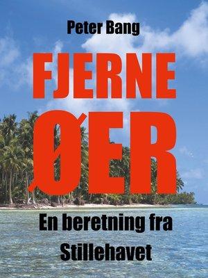 cover image of Fjerne øer