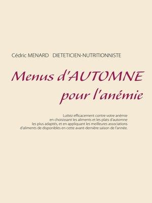 cover image of Menus d'automne pour l'anémie