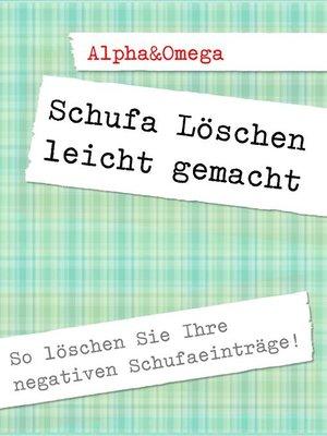 cover image of Schufa Löschen leicht gemacht