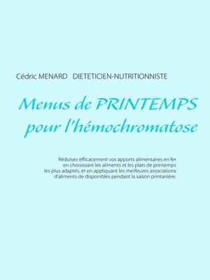 cover image of Menus de printemps pour l'hémochromatose