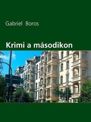 cover image of Krimi a másodikon