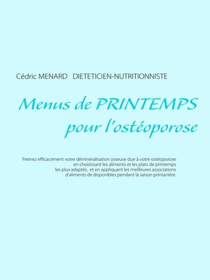 cover image of Menus de printemps pour l'ostéoporose