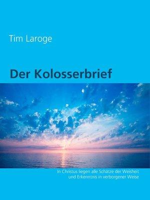 cover image of Der Kolosserbrief