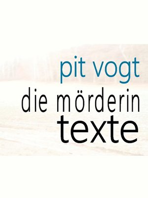 cover image of Die Mörderin