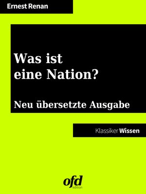 cover image of Was ist eine Nation?