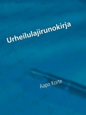 cover image of Urheilulajirunokirja
