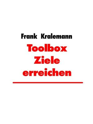 cover image of Toolbox Ziele erreichen