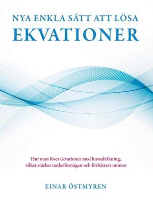cover image of Nya enkla sätt att lösa ekvationer