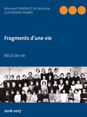 cover image of Fragments d'une vie