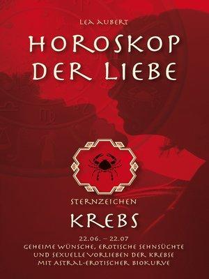 cover image of Horoskop der Liebe – Sternzeichen Krebs
