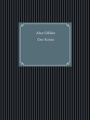 cover image of Der Krimi