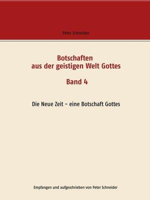 cover image of Die Neue Zeit--eine Botschaft Gottes