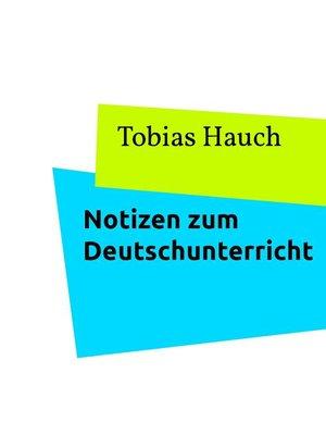 cover image of Notizen zu Textarten