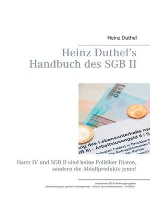 cover image of Heinz Duthel's Handbuch des SGB II