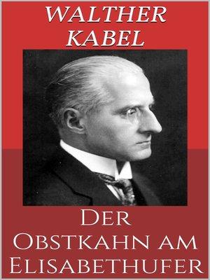 cover image of Der Obstkahn am Elisabethufer