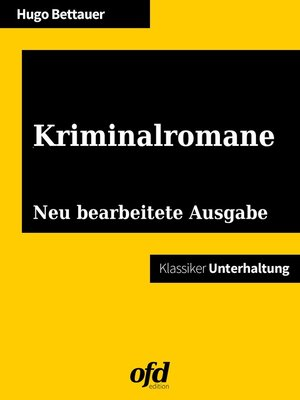 cover image of Kriminalromane