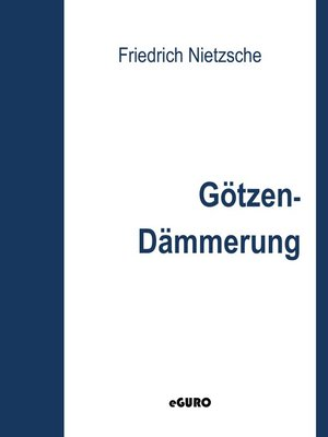 cover image of Götzen-Dämmerung