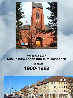 cover image of Das Ja zum Leben und zum Menschen, Band 13