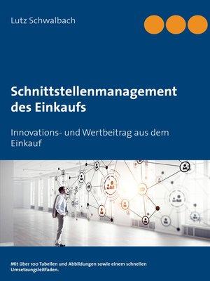 cover image of Schnittstellenmanagement des Einkaufs