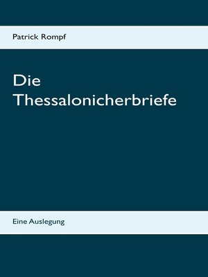cover image of Die Thessalonicherbriefe