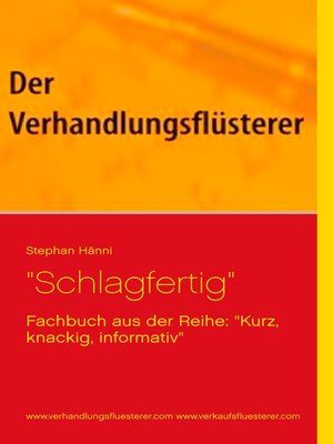 "cover image of ""Schlagfertig"""