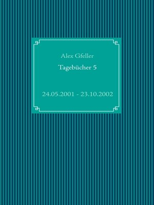 cover image of Tagebücher 5