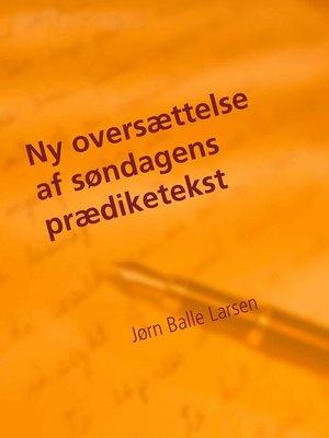 cover image of Ny oversættelse af søndagens prædiketekst
