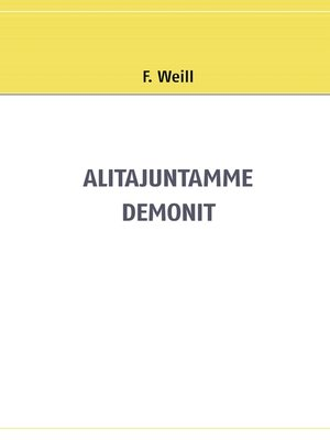 cover image of Alitajuntamme demonit