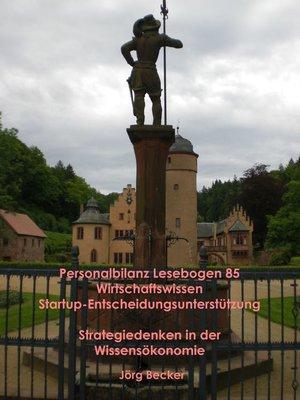cover image of Personalbilanz Lesebogen 85 Wirtschaftswissen Startup-Entscheidungsunterstützung