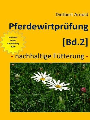 cover image of Pferdewirtprüfung [Bd.2]