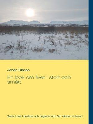 cover image of En bok om livet i stort och smått
