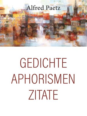 cover image of Gedichte, Aphorismen, Zitate