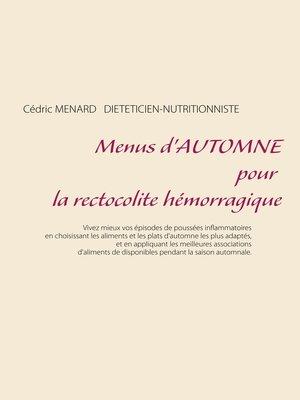 cover image of Menus d'automne pour la rectocolite hémorragique