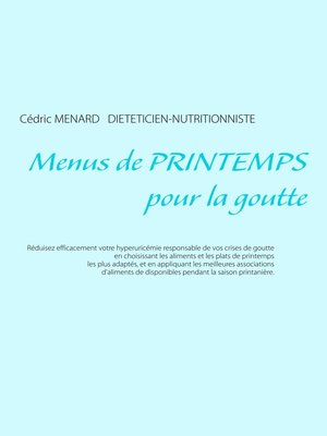 cover image of Menus de printemps pour la goutte