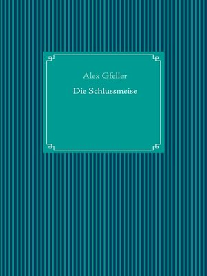 cover image of Die Schlussmeise