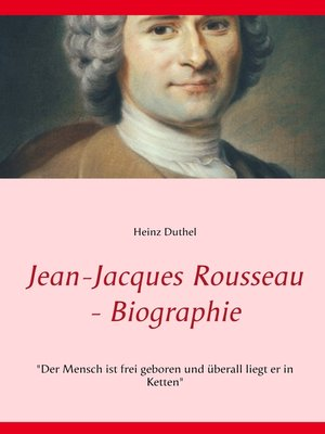 cover image of Jean-Jacques Rousseau--Biographie