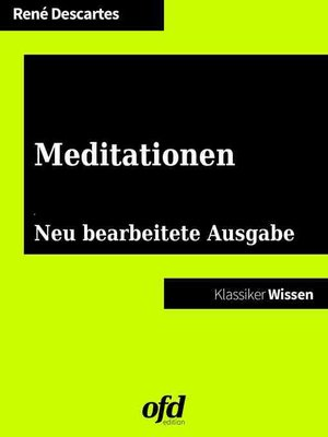 cover image of Meditationen