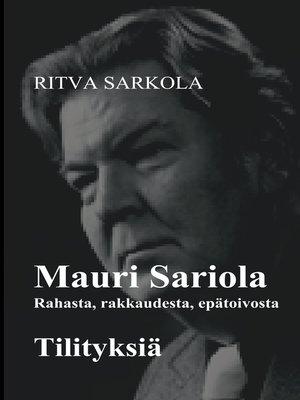 cover image of Rahasta, rakkaudesta, epätoivosta